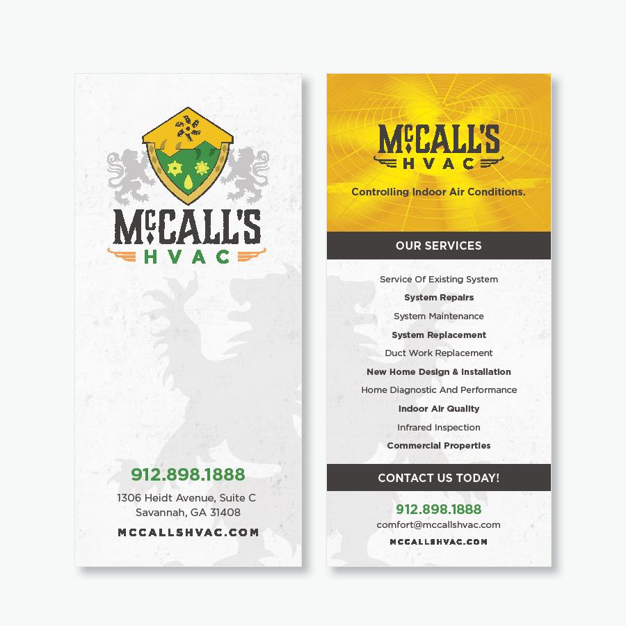 Rackcards | McCalls HVAC