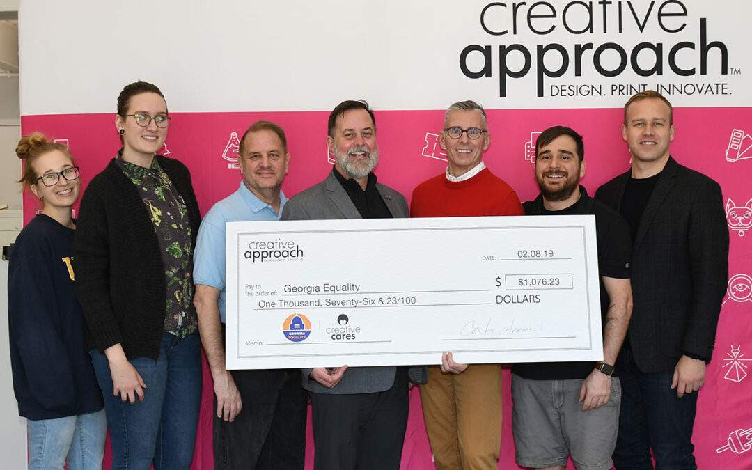 Creative Approach Cares - Donation to Georgia Equality Q4 2018