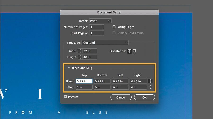 Adding bleed to a finished document.